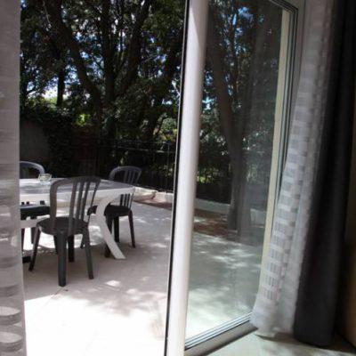 Le cabanon de Taty : la terrasse