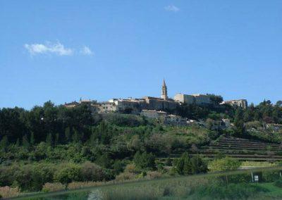 La Cadière d Azur, vue générale du village