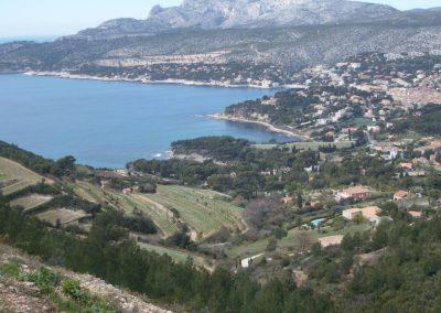 La route des Crêtes à Cassis
